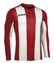 JOMA Pisa V Jersey - Red / White (Long Sleeve)